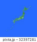 緑の日本地図 32397281