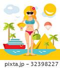 ビーチ 浜辺 女子のイラスト 32398227