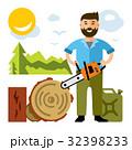 きこり 木こり ウッドのイラスト 32398233