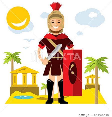 Vector Spartan warrior. Flat style colorful 32398240