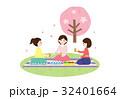 人物素材-お花見2(女子会)テクスチャ 32401664