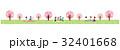 素材-お花見(春の風景)テクスチャ 32401668