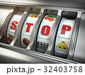 Stop gambling addiction concept. Slot machine 32403758