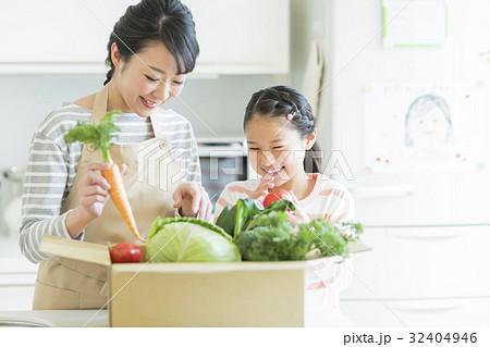 親子 野菜 32404946