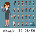 flat type Gray suit business woman_1 32408459