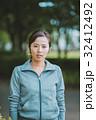 女性 汗 ジョガーの写真 32412492