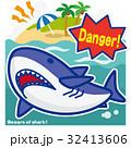 サメのいる海 ホオジロザメ(青罫) 32413606