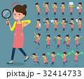 flat type Ballet Bun hair Apron mom_2 32414733