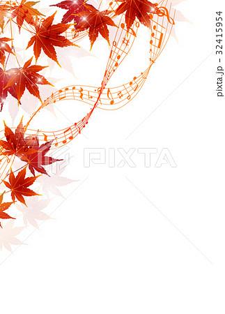 紅葉 秋 葉 背景 のイラスト素材 32415954 Pixta