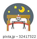 寝る 睡眠 ベッドのイラスト 32417322