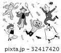 ハロウィン ハロウィンパーティー 仮装のイラスト 32417420