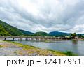 嵐山 渡月橋 橋の写真 32417951
