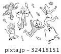 ハロウィン ハロウィンパーティー 仮装のイラスト 32418151