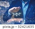 ドローン ビジネスパーソン ミニチュアの写真 32421635