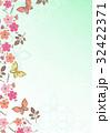 花柄【和風背景・シリーズ】 32422371