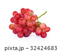 red grapes with water drops isolated on white  32424683
