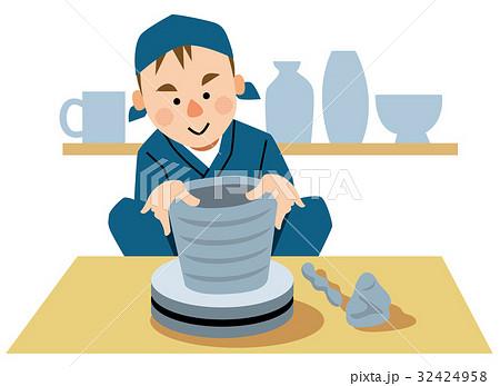 いろいろな職業 陶芸家 32424958