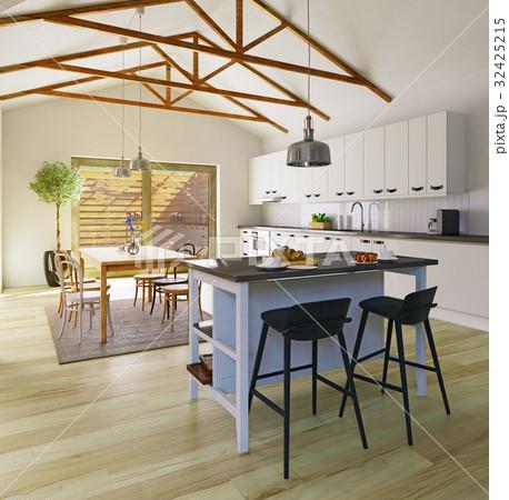 Attic floor design 32425215