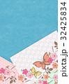 桜と蝶【和風背景・シリーズ】 32425834