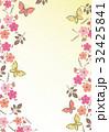 花柄【和風背景・シリーズ】 32425841