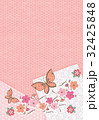 桜と蝶【和風背景・シリーズ】 32425848