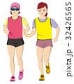 視覚障害者マラソン女性 32426565
