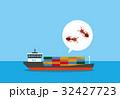 ヒアリとコンテナ船 32427723
