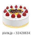 ホールケーキ ケーキ バースデーケーキのイラスト 32428634