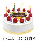 ホールケーキ ケーキ デコレーションのイラスト 32428636