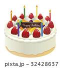 ホールケーキ バースデーケーキ デコレーションのイラスト 32428637