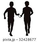 視覚障害者マラソンシルエット 32428677