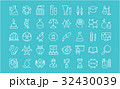 Set Vector Flat Line Icons Chemistry 32430039