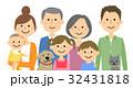 イラスト イラストレーション 3世代家族のイラスト 32431818