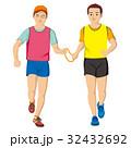 視覚障害者マラソン男性 32432692