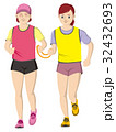 視覚障害者マラソン女性 32432693