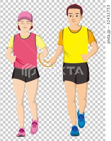 视障者 马拉松赛跑 人 32432753