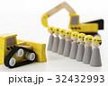建設 建築 工事 土木 作業員 人形 工事現場 32432993