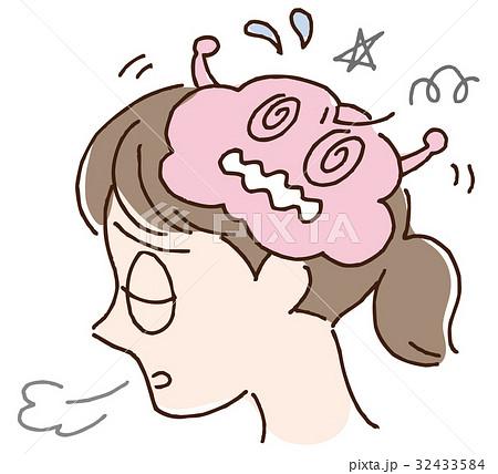 脳のストレスと疲れのイラスト素材 32433584 Pixta