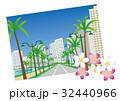 ハワイ カラカウア通りとプルメリア 32440966