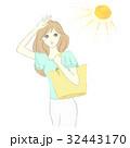 日差し UV 紫外線のイラスト 32443170