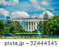 ホワイトハウス 噴水 水しぶきの写真 32444345
