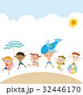 海水浴 子供達 砂浜のイラスト 32446170
