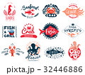 Seafood Creative Emblems Collection 32446886