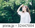 女性 夏 新緑の写真 32447004