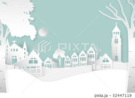 Winter in peaceful the city, nature background 32447119
