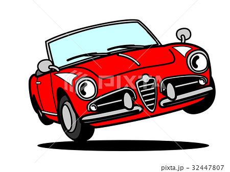 イタリアンヒストリックスポーツ ジャンプ 赤 自動車イラスト 32447807