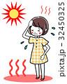 熱中症 女性 めまいのイラスト 32450325