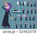 女性 ヒジャブ ムスリムのイラスト 32462078
