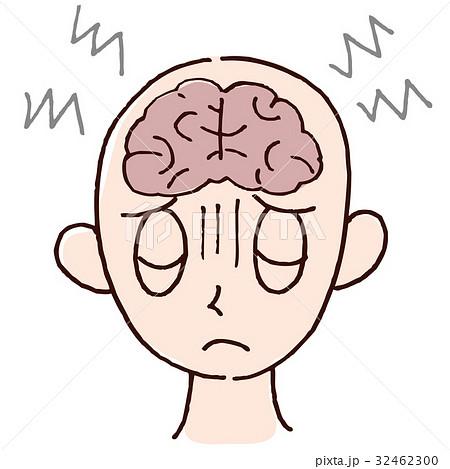 脳の疲れのイラスト素材 32462300 Pixta