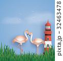 灯台 燈台 ライトハウスのイラスト 32463478